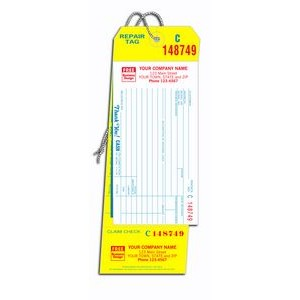 4-In-1 Repair Tag w/ Claim Check & Carbon (2 Part)