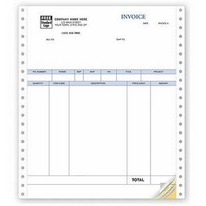 Classic Product Invoice w/ Packing Slip (4 Part)
