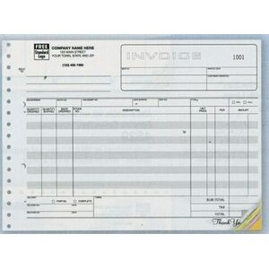 Classic Collection™ Wide-Body Invoice Form (3 Part)