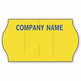 Meto® Stock Yellow 1-Line Pricing Label