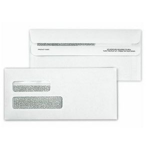 Confidential Large Self-Seal Dual-Window Envelope