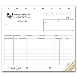 Classic Collection™ Small Shipping Invoice Form (4 Part)