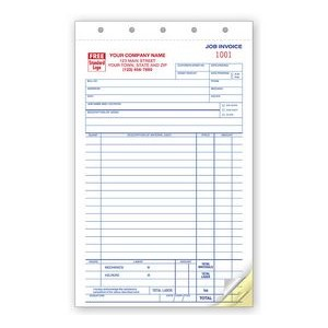 Job Invoice/Work Order Form (3 Part)