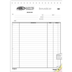Large Job Invoice Form (3 Part)