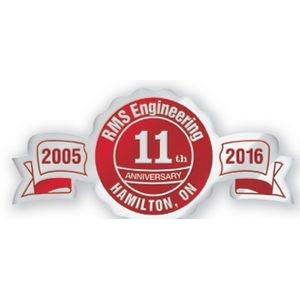 Fossler® Seal Foil Embossed Anniversary Ribbon Seal