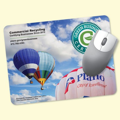 "ReTreads® 6""x8""x3/32"" Recycled Hard Surface Mouse Pad"