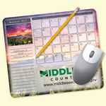 Custom MousePaper Calendar 12 Month Recycled Note Paper (Landscape) Mouse Pad