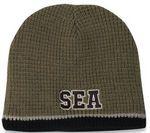 Custom 100 percent Acrylic Knit Beanie Hat W/Fleece Lining