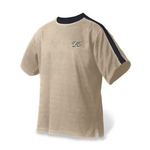 Men's Crewneck Flatback Pullover w/Short Sleeves