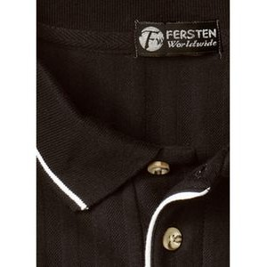 Men's Vertical Terry Textured Cotton Polo