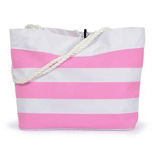 Custom NEW! Striped Cabana Rope Tote Bag