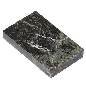 "Jade Leaf Green Rectangular Marble Base (4""x3/4""x3"")"