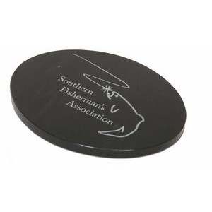 "Jet Black Oval Marble Base (5""x5/16""x3"")"