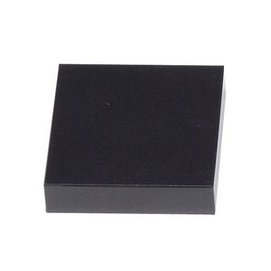 "Jet Black Square Marble Base (3""x3/4""x3"")"