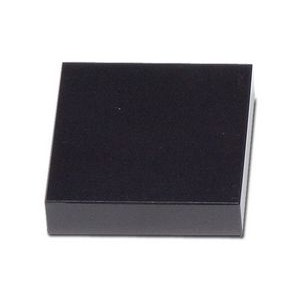 "Jet Black Square Marble Base (2""x3/4""x2"")"