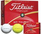 Custom Titleist DT TruSoft Golf Balls (White)