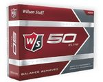 Custom Wilson Staff 50 Elite White Golf Balls