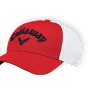 Callaway® Mesh Fitted Cap (Red/White)