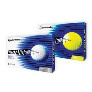 White TaylorMade® Distance+ Golf Balls