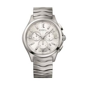 Ebel Classic Wave Men's Stainless Steel Watch w/Chronograph Dial