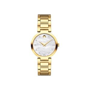 Ladies' Movado Modern Classic Yellow Gold Watch w/White Dial