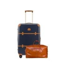 Bellagio Spinner Trunk w/Life Pelle Leather Cargo Duffle Bag