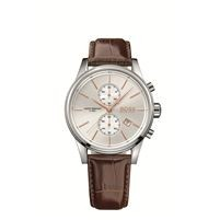 Hugo Boss Men's Jet Stainless Steel Chronograph Watch w/Brown Leather Strap
