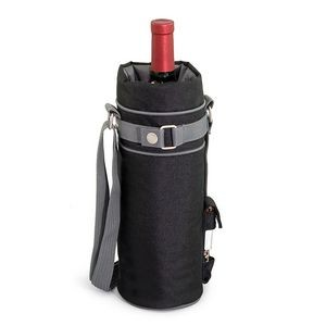 Wine Sack Single Bottle Canvas Duffel w/Corkscrew