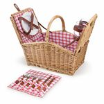 Custom Piccadilly Double Lid Picnic Basket w/Service for Two