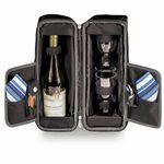 Custom Estate Insulated Single Bottle Wine Tote w/ Service for 4
