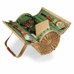 Custom Verona Barrel Basket w/ Wine & Cheese Service for 2