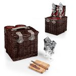 Custom Vino Picnic Basket w/ 2 Exterior Wine Compartments