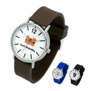 Jumbo Unisex Silver Watch, with soft & comfortable silicon bands & metal buckle, Japan movement