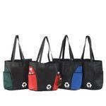 Custom Non Woven Tote Bag w/ Jumbo Side Pockets