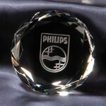 Custom Round Crystal Paperweight Award (3 1/8