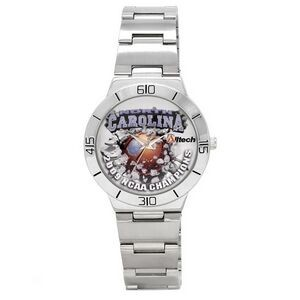 Sporty Design Bracelet Watch with matching silver tone band & secure clasp closure, Japan movement