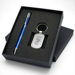 Custom Beautiful Gift Set with Classic Metal Keychain & Aluminum Pen makes a perfect giveaway gift