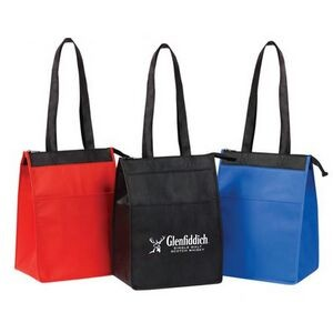 Insulated Lunch Tote with Zipper Closure