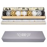 Custom Luxe Gift Wrap Set w/Coordinated Bows & Ribbon (4 Rolls)