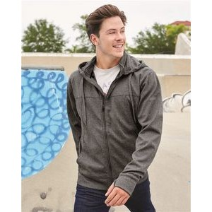 Independent Trading Co. Poly-Tech Full-Zip Hooded Sweatshirt