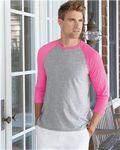 Custom Hanes X-Temp 3/4 Sleeve Baseball T-Shirt