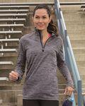 Custom Russell Athletic Women's Striated Quarter Zip Pullover Shirt