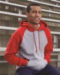 Custom Russell Athletic Dri Power Colorblocked Raglan Hooded Pullover Sweatshirt