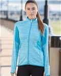 Custom Adidas Golf Ladies' Space Dyed Full-Zip Jacket