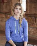 Custom Anvil Women's Lightweight Long Sleeve Hooded T-Shirt