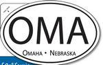 Custom Spot Color Oval Bumper Stickers (4