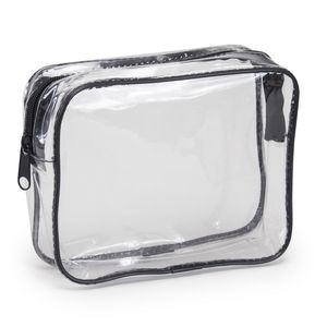 Clear Vinyl Travel Size Cosmetic Bag