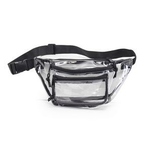 Clear Three-Zipper Fanny Pack