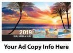 Custom Galleria Sun, Sand & Surf Desk Tent Calendar