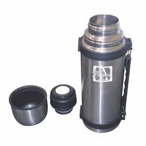 750 Ml. Stainless Steel Thermos w/Sturdy handle (3-5 Days)